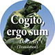 Cogito, ergo sum: I think, therefore I am
