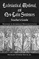 Ecclesiastical, Medieval, and Neo-Latin Sentences TG
