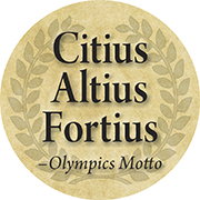 Citius Altius Fortius: Faster, Higher, Stronger